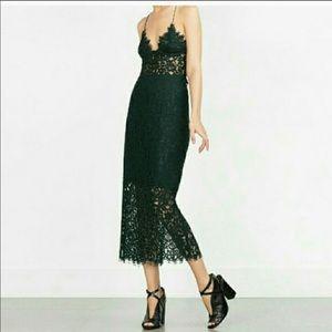 Zara green lace set